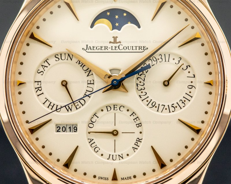 Jaeger LeCoultre Q1302520 Master Ultra Thin Perpetual Calendar Rose Gold / Creme Dial