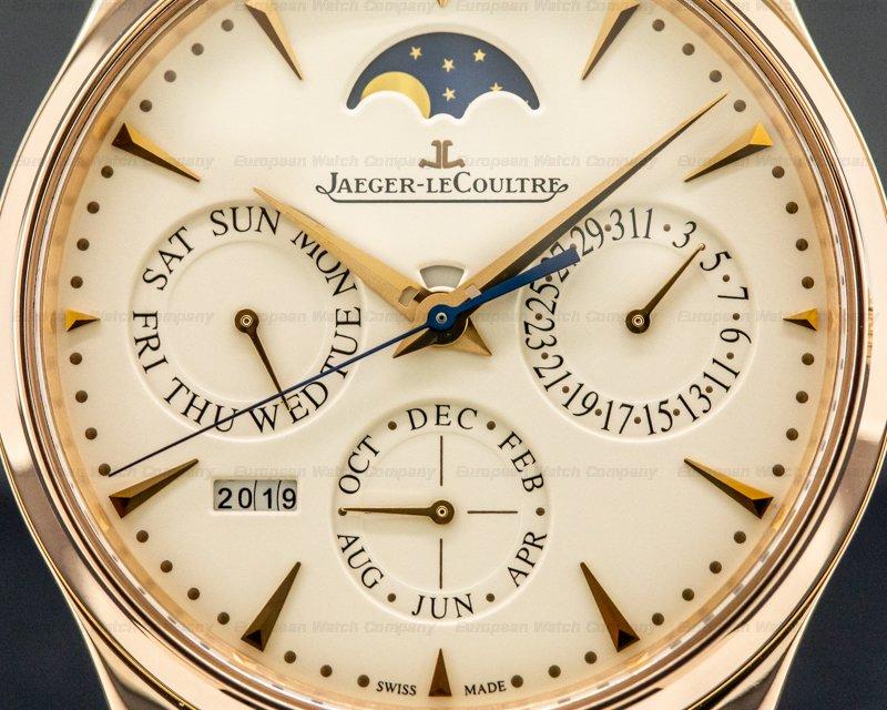 Jaeger LeCoultre Q1302520 Master Ultra Thin Perpetual Calendar Rose Gold / Cream Dial