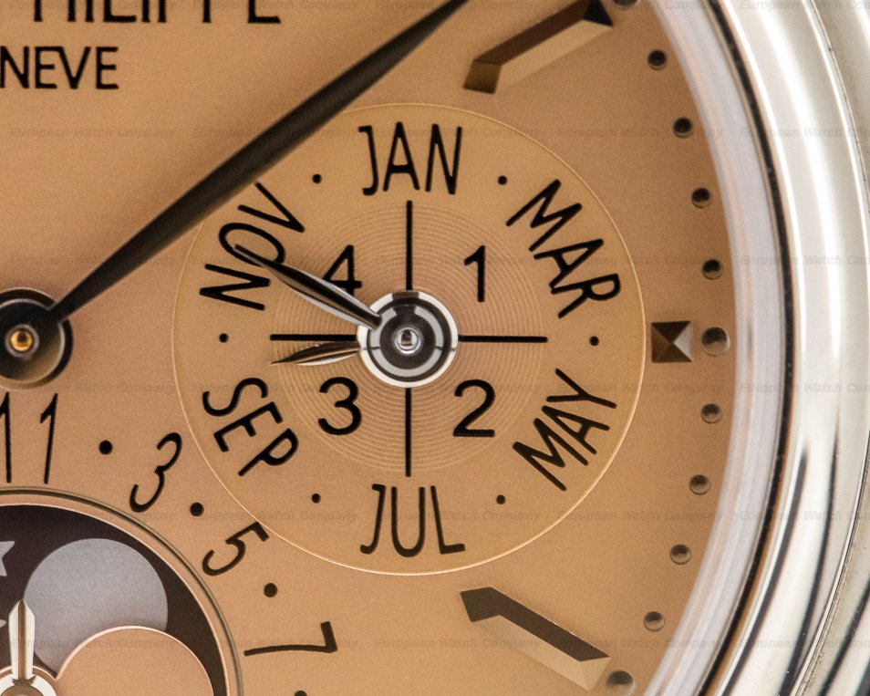 "Patek Philippe 3940G-029 Perpetual Calendar ""Saatchi"" SALMON DIAL 18K White Gold LIMITED"