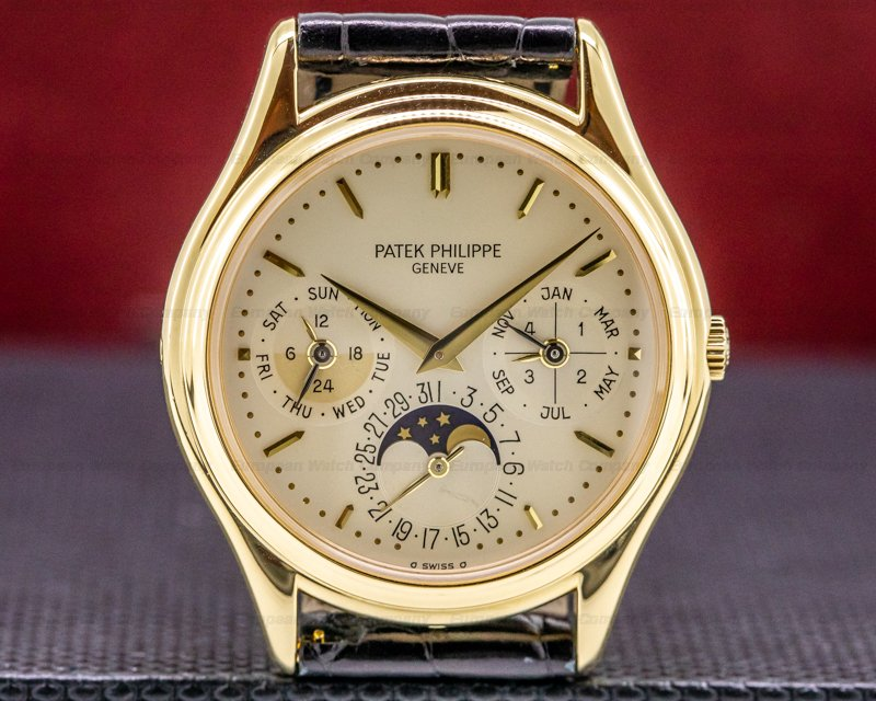 Patek Philippe 3940J-014 Perpetual Calendar 18K Yellow Gold JUST SERVICED