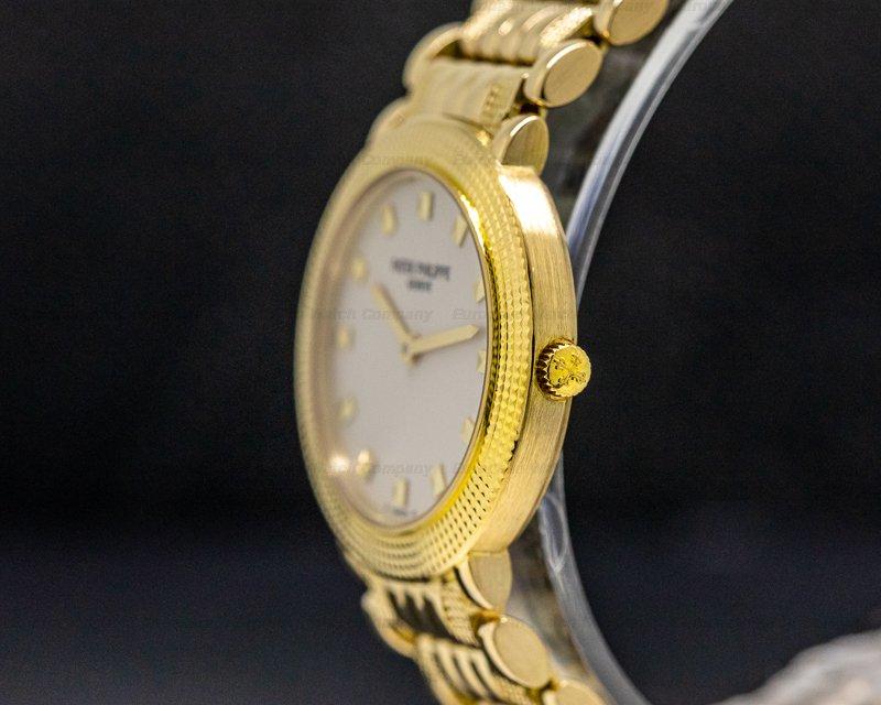 Patek Philippe 4919 Lady Calatrava Quartz 4919 18K Yellow Gold / Bracelet 26MM