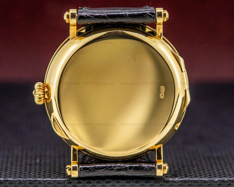Patek Philippe 5015J Moonphase Power Reserve 18k Yellow Gold Hobnail Bezel