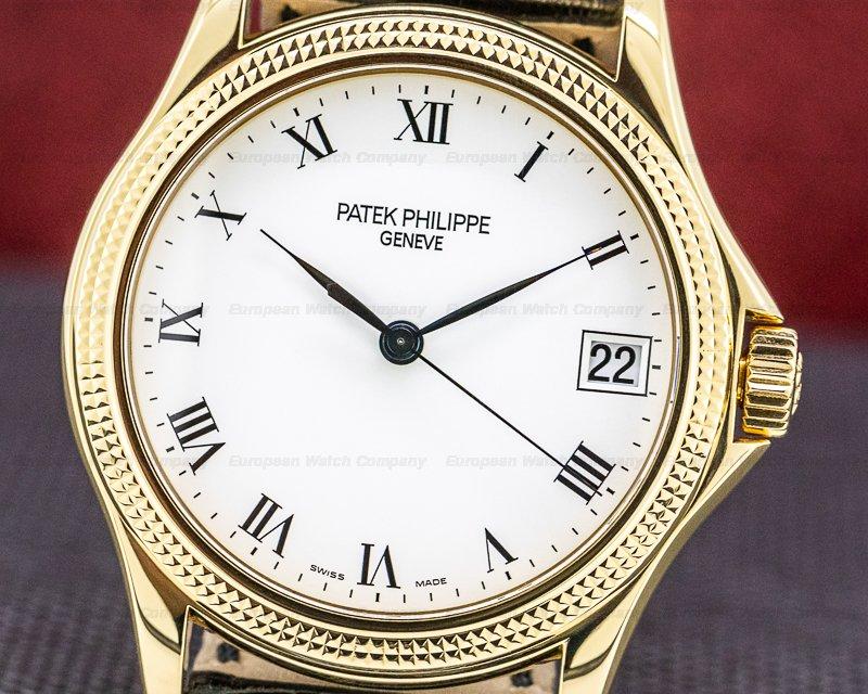 Patek Philippe 5117J Calatrava 18K Yellow Gold Hobnail Bezel 37MM