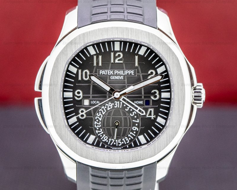 Patek Philippe 5164A-001 Aquanaut 5164A Travel Time SS / Rubber