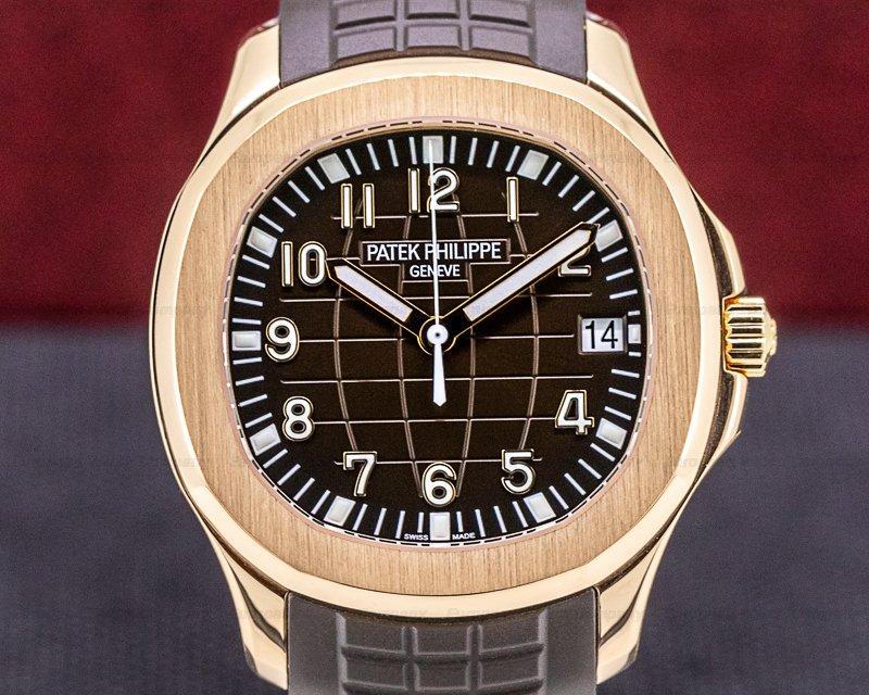 Patek Philippe 5167R-001 Aquanaut 18K 5167R Rose Gold / Brown Dial