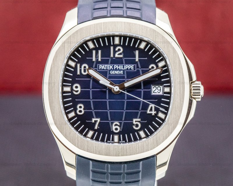 Patek Philippe 5168G-001 Aquanaut 18K White Gold / Blue Dial 2019