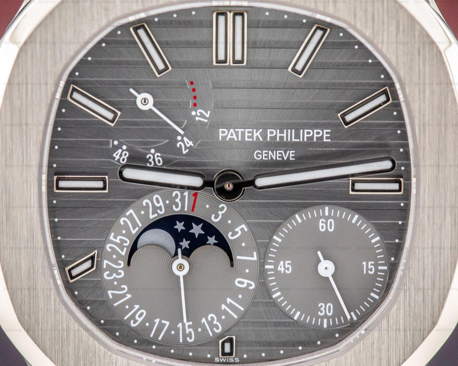 Patek Philippe 5712G-001 Nautilus Power Reserve Moonphase 18K White Gold