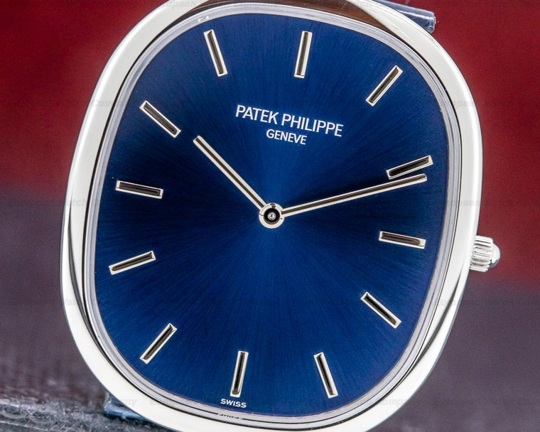 Patek Philippe 5738P-001 Golden Ellipse Platinum Blue Dial
