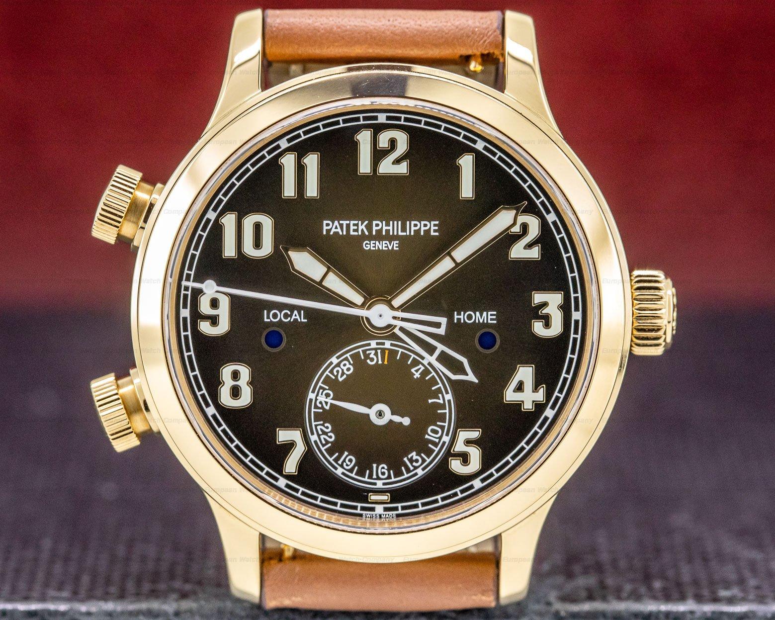 Patek Philippe 7234R-001 Mid Size Calatrava Pilot Travel Time 18k Rose Gold