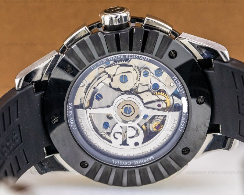 Perrelet A1043/1 Split Second Chronograph Skeleton Dial SS / Ceramic 43.5MM