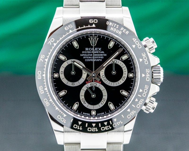 Rolex 116500LN Daytona Ceramic Bezel SS / Black Dial