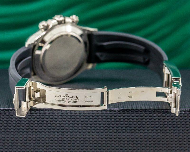 Rolex 116519LN Daytona 18K White Gold Ceramic Oysterflex Silver Dial 2018