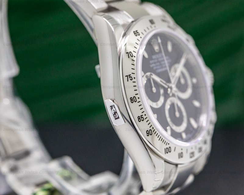 Rolex 116520 Daytona Black Dial SS NEW OLD STOCK FULLY STICKERED
