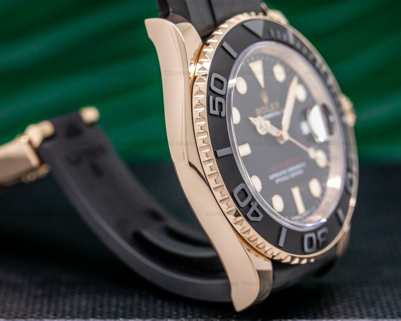 Rolex 116655 Yacht Master 18K Rose Gold / Rubber 40MM