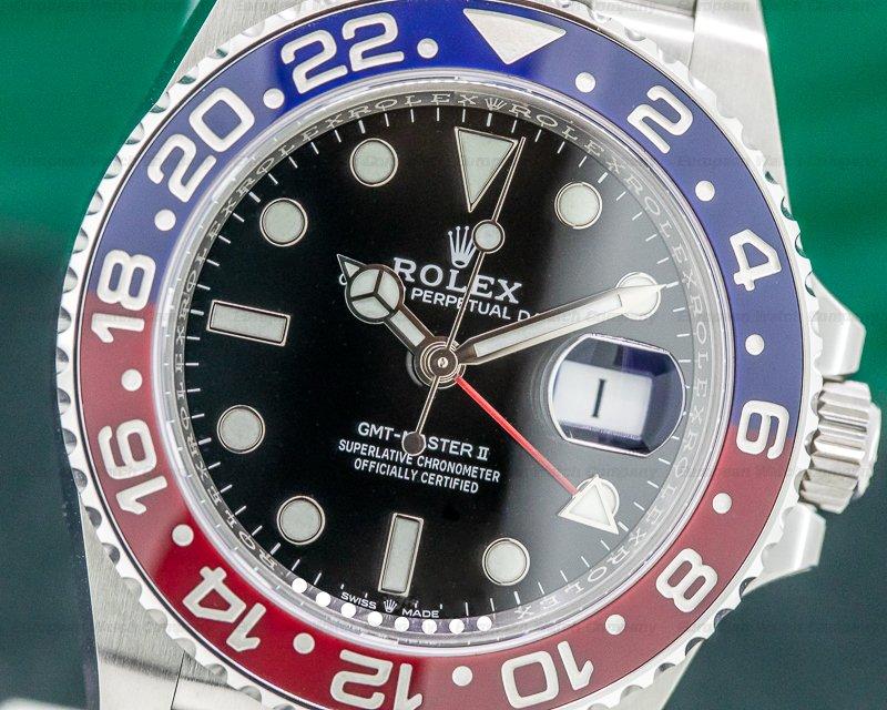 "Rolex 126710BLRO GMT Master II Ceramic ""Pepsi"" SS / Jubilee"