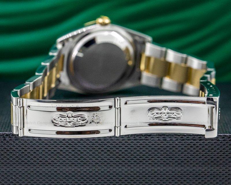 Rolex 16233 Datejust Ivory Pyramid Dial Roman Numerals 18K / SS