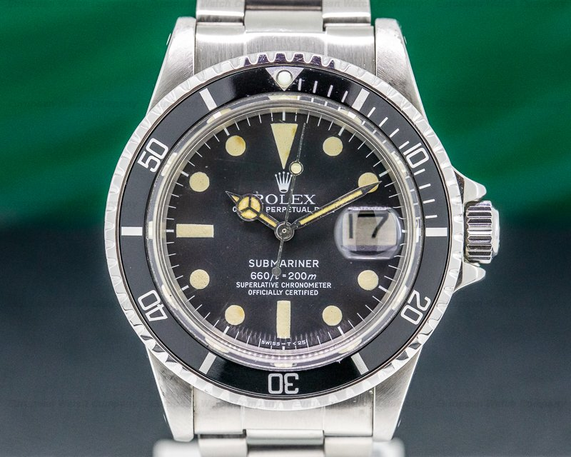 Rolex 1680 Submariner 1680 SS Circa 1978 GREAT PATINA