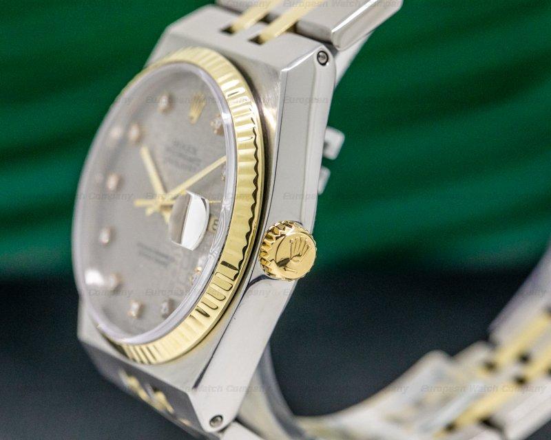 Rolex 17013 Oyster Quartz Slate Dial Diamond Markers 18k / SS