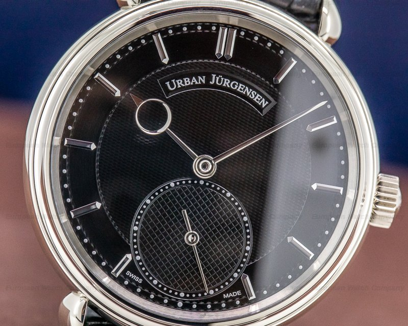 Urban Jurgensen 1140L WG 123 B 1140 Black Dial 18k White Gold