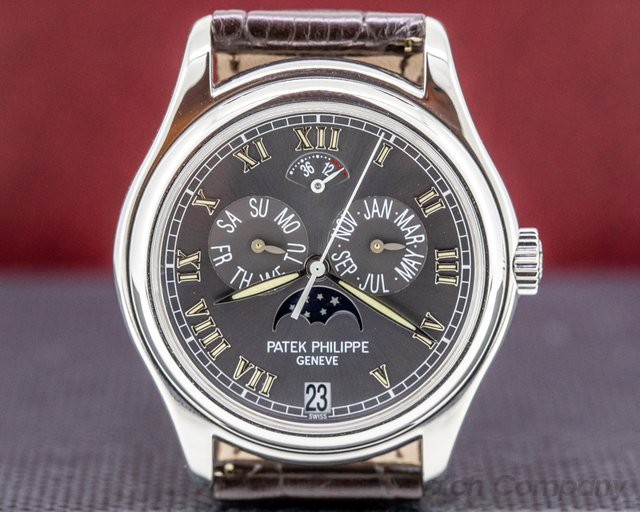 Patek Philippe 5056P-001  Annual Calendar Power Reserve Grey Dial Platinum