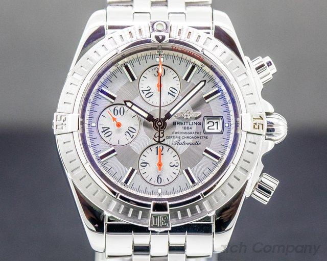 Breitling A13356 Chronomat Evolution Chronograph SS Silver Dial