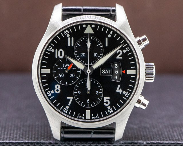 IWC IW377701 Pilot Chronograph SS / Alligator