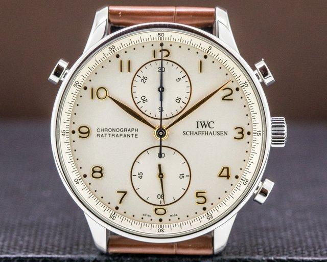 IWC 3712 Portuguese Chronograph Rattrapante SS COMPLETE