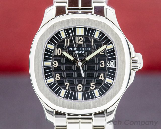 Patek Philippe 5065/1A-010 Aquanaut 5065 Automatic Black Dial SS FULL SET / PP SERVICED / W EXTRAS