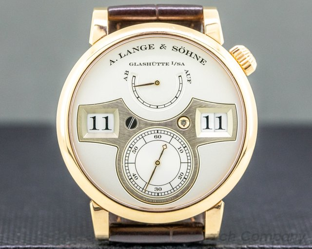 A. Lange and Sohne 140.032 Zeitwerk 140.032 18K Rose Gold / Deployant