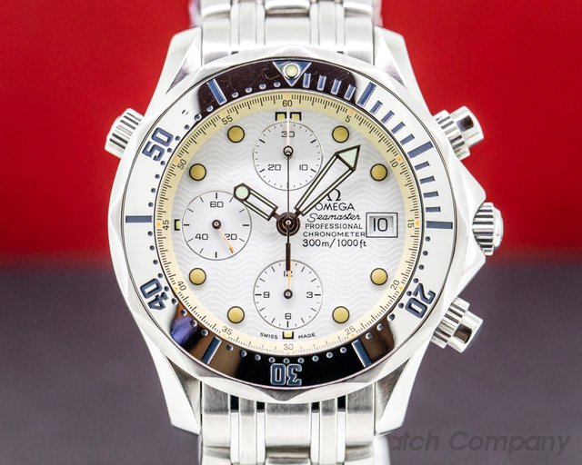 Omega 2598.20.00 Seamaster Professional Chronograph White Dial SS / SS