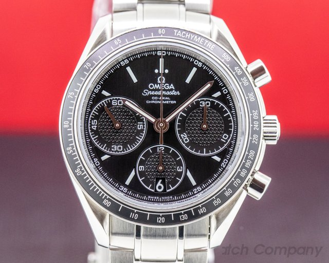 Omega 326.30.40.50.01.001 Speedmaster Racing Co-Axial Chronograph Black Dial SS Bracelet