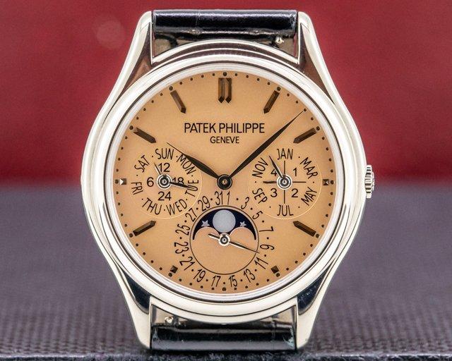 "Patek Philippe 3940G-029 Perpetual Calendar ""Saatchi"" 3940G-029 SALMON DIAL 18K White Gold LIMITE"