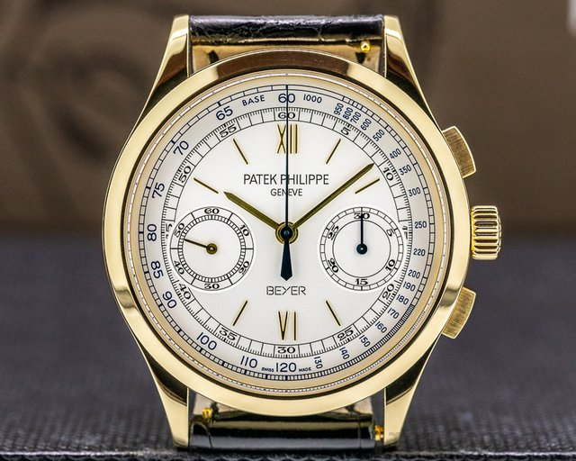 "Patek Philippe 5170J-001 BEYER Chronograph 5170 ""BEYER"" 18K Yellow Gold LIMITED EDITION RARE"