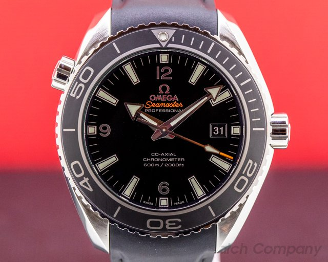 Omega 232.32.46.21.01.003 Seamaster Planet Ocean Co-Axial SS / Rubber 45.5MM