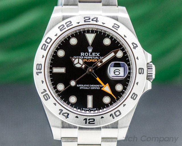 Rolex 216570 Explorer II 216570 Black Dial SS
