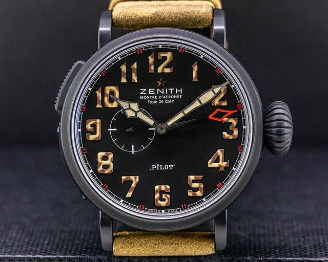 Zenith 96.2431.693/21.C738 Pilot Type 20 GMT