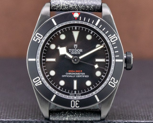 Tudor 79230DK Tudor Heritage Black Bay Dark SS / Leather UNWORN