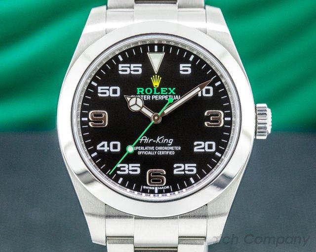 Rolex 116900 Air King 116900 Black Dial SS