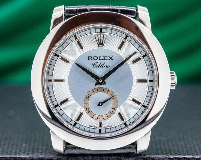 Rolex 5241 Cellinium Platinum Glacier 38MM