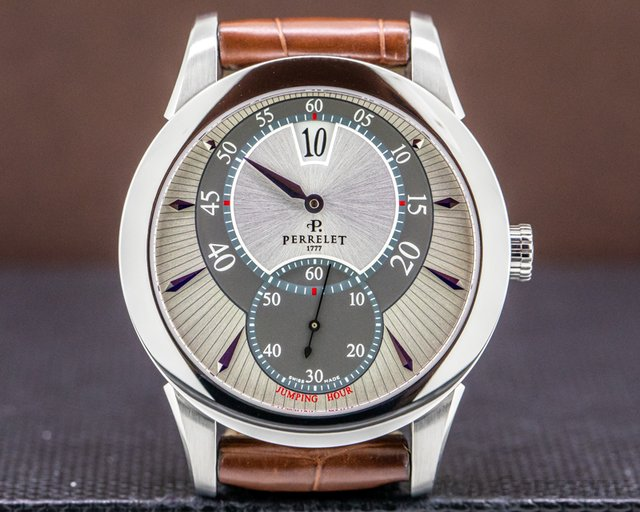 Perrelet A1037/A0538 Jumping Hour SS Silver / Gray Dial