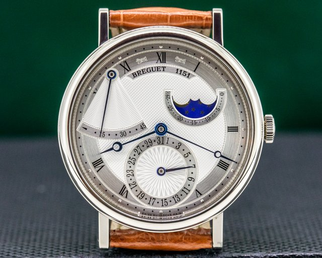 Breguet 7137BB/11/9V6 Classique Power Reserve Moon 18K White Gold