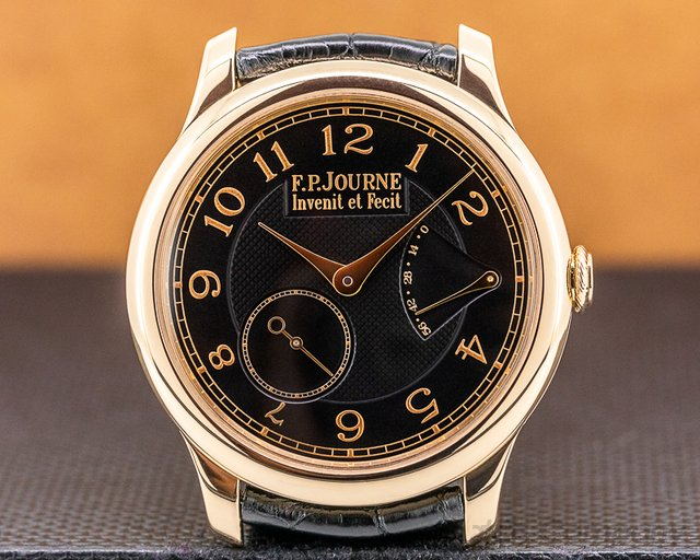 F. P. Journe Chronometre Souverain Bo Chronometre Souverain 18k Rose Gold Black Dial BOUTIQUE