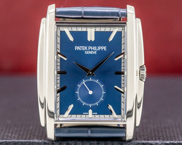 Patek Philippe 5124G-011 Gondolo 5124G 18K White Gold Blue Dial Manual Wind