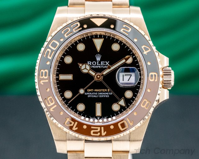 Rolex 126715 CHNR GMT Master II 126715  18K Everose Ceramic Root Beer 2019