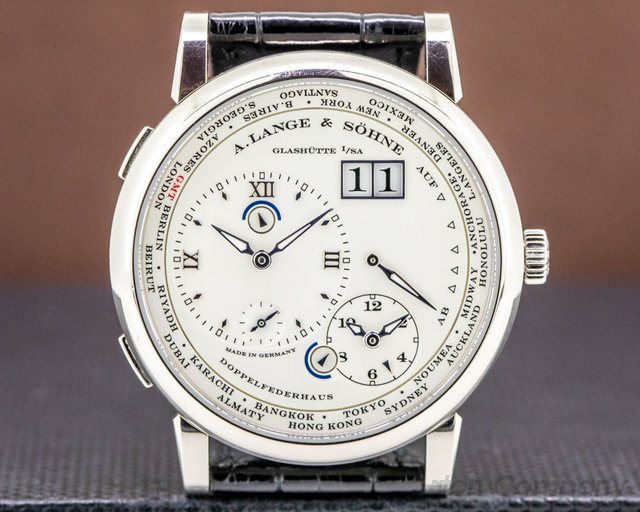 A. Lange and Sohne 116.039 Lange 1 Time Zone 116.039 18K White Gold
