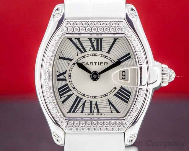 Cartier WE500260 2723 Roadster Ladies 18K White Gold Diamond Bezel