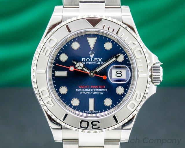 Rolex 116622 Yacht Master SS Blue Dial / Platinum Bezel UNWORN