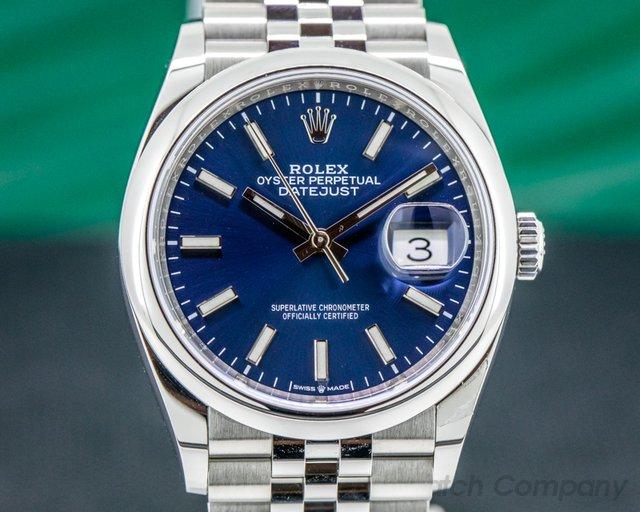 Rolex 126200 Datejust Blue Stick Dial / Jubilee Bracelet
