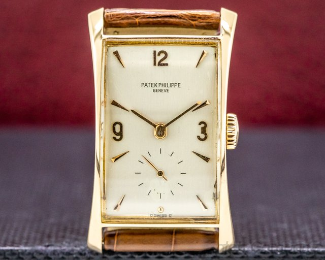 "Patek Philippe 1593 Vintage ""Hour Glass"" 18k ROSE Gold c. 1951 RARE"