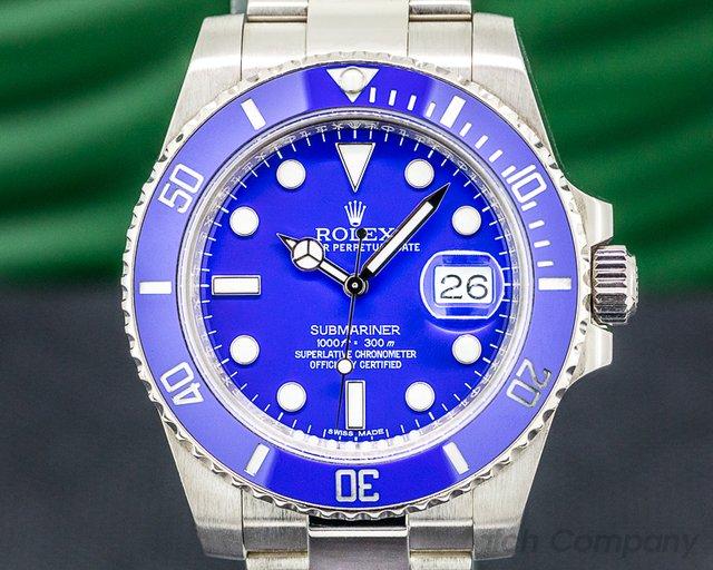 Rolex 116619LB Submariner 116619LB 18K White Gold Blue Dial